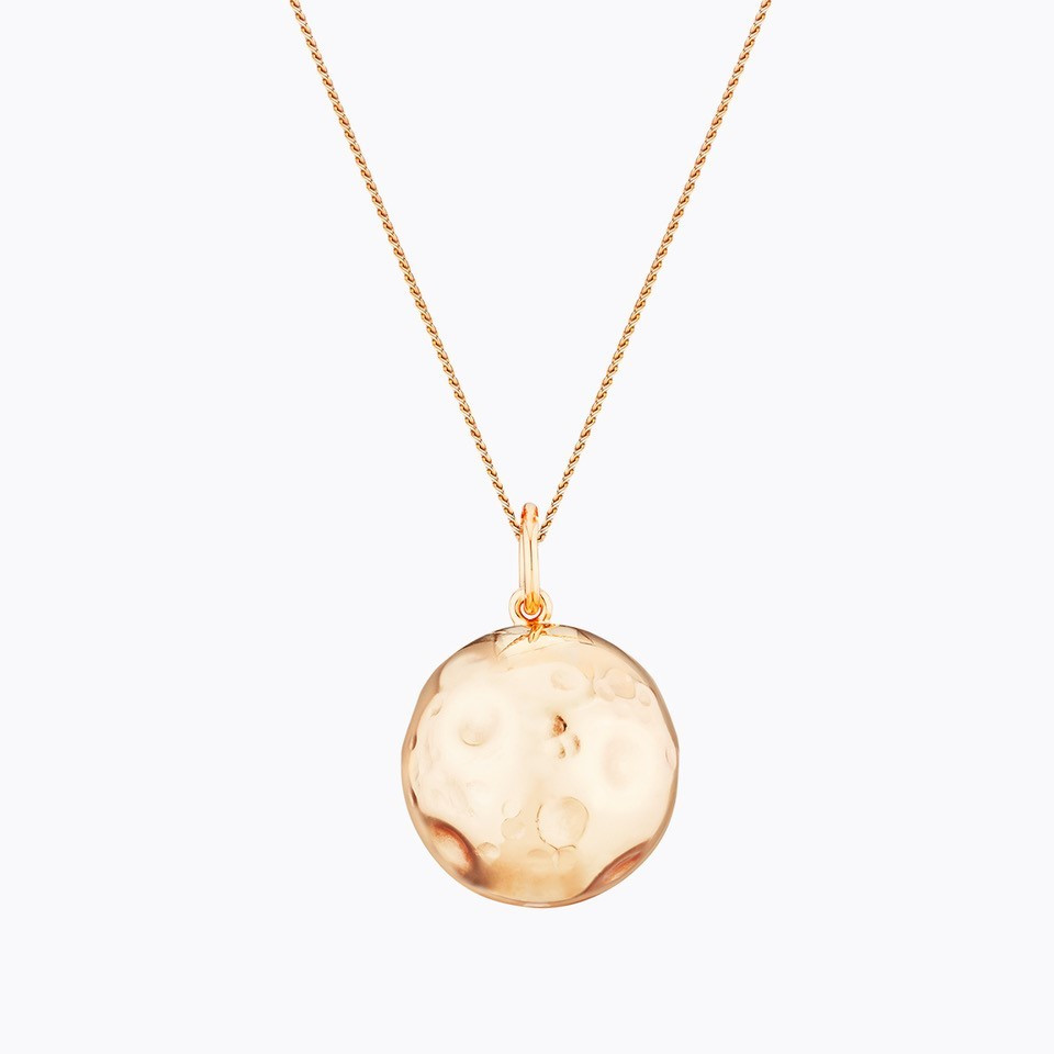 Yellow gold plated MOON maternity necklace