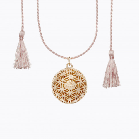 FLOWER OF LIFE Pregnancy necklace on cord