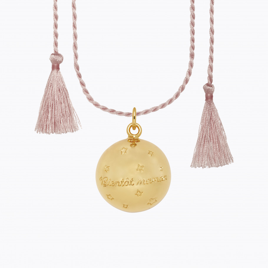 JOY Pregnancy Necklace Pink Gold